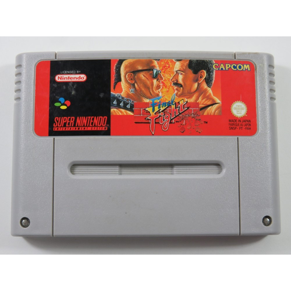 FINAL FIGHT SUPER NINTENDO (SNES) PAL-FAH (CARTRIDGE ONLY - GOOD CONDITION)