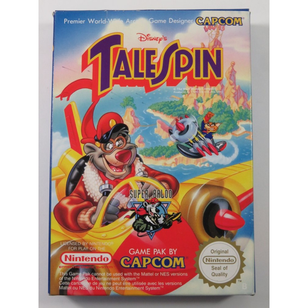 TALESPIN NINTENDO NES PAL-B FRA (COMPLETE - GOOD CONDTION)