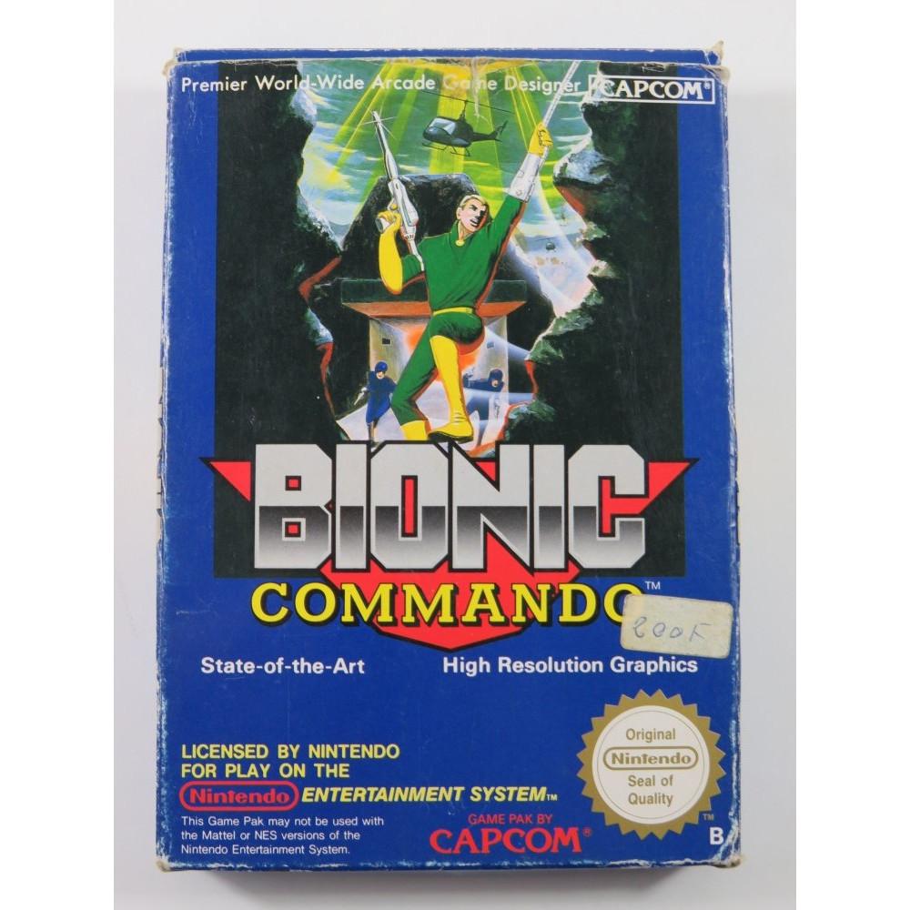 BIONIC COMMANDO NES PAL-B EEC (COMPLETE - GOOD CONDITION OVERALL)