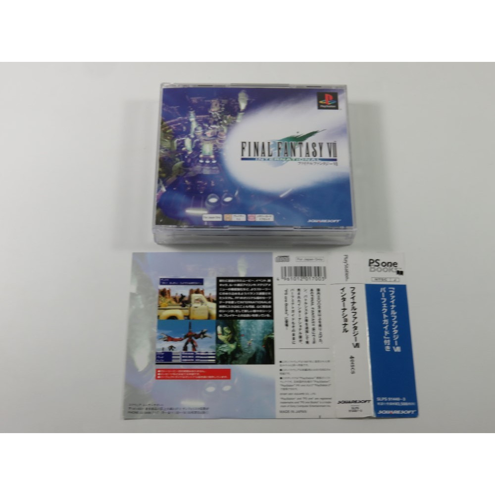 FINAL FANTASY VII INTERNATIONAL PLAYSTATION (PS ONE BOOKS) NTSC-JPN (COMPLETE WITH SPIN CARD - GREAT CONDITION)