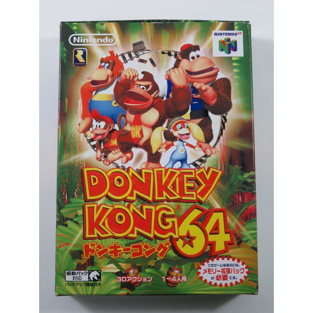 DONKEY KONG 64 NINTENDO 64 (N64) NTSC-JPN (WITHOUT MANUAL - GOOD CONDITION)(EXPANSION PAK REQUIRED NOT INCLUDED)