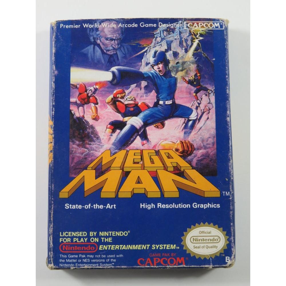 MEGA MAN NINTENDO NES PAL-B EEC (FR) - (COMPLETE - BOX DAMAGED)