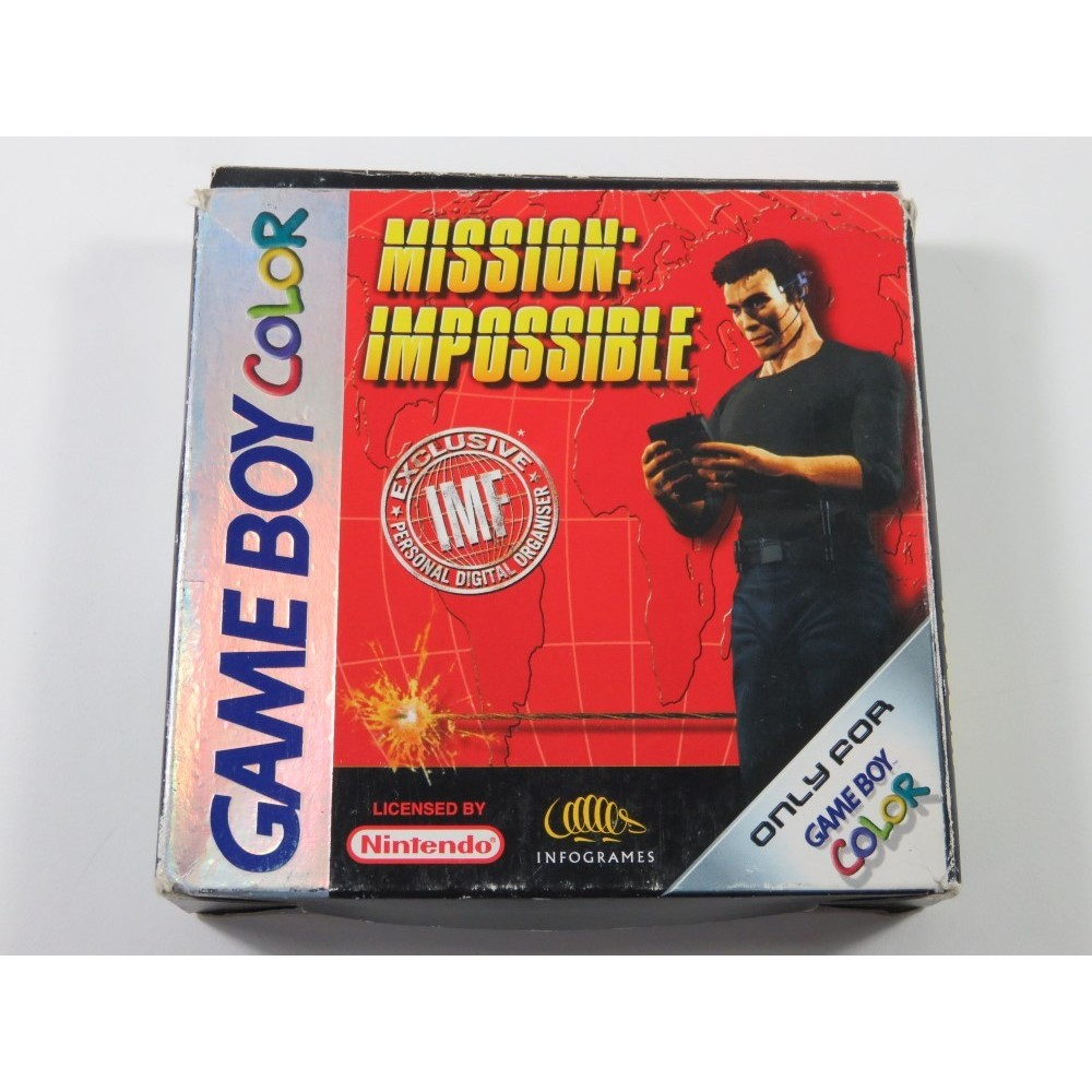 MISSION IMPOSSIBLE GAMEBOY COLOR (GBC) FAH (COMPLETE - GOOD CONDITION OVERALL)