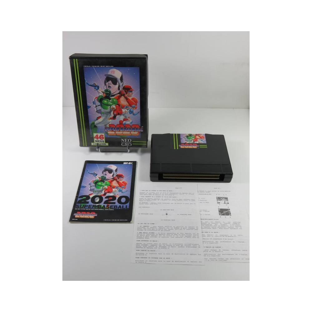 SUPER BASEBALL 2020 NEO GEO AES USA DOG TAG (IMPORT FR DOUBLE NOTICES)(COMPLET - GOOD CONDITION OVERALL)