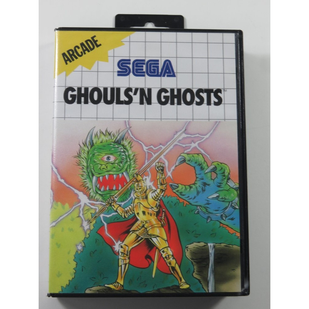 GHOULS N GHOSTS SEGA MASTER SYSTEM PAL-EURO (SANS NOTICE - GOOD CONDITION OVERALL)