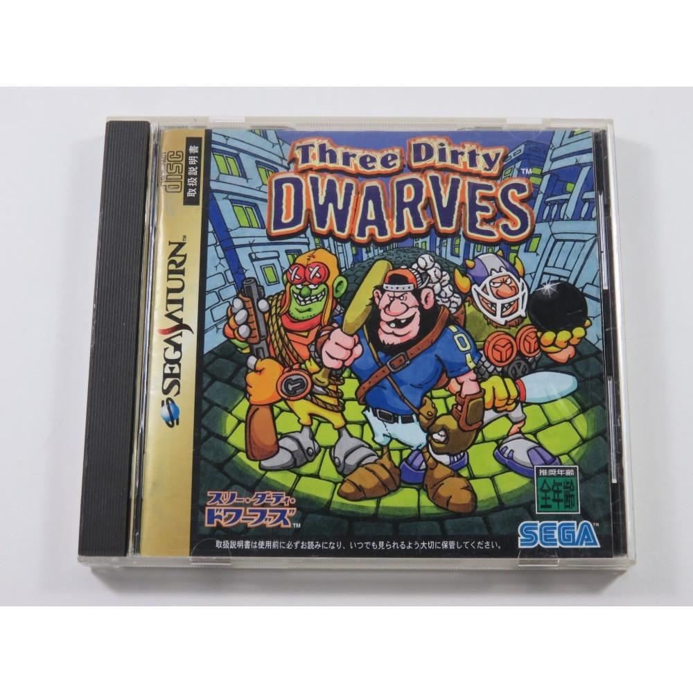 THREE DIRTY DWARVES SEGA SATURN NTSC-JPN (COMPLETE - GOOD CONDITION)