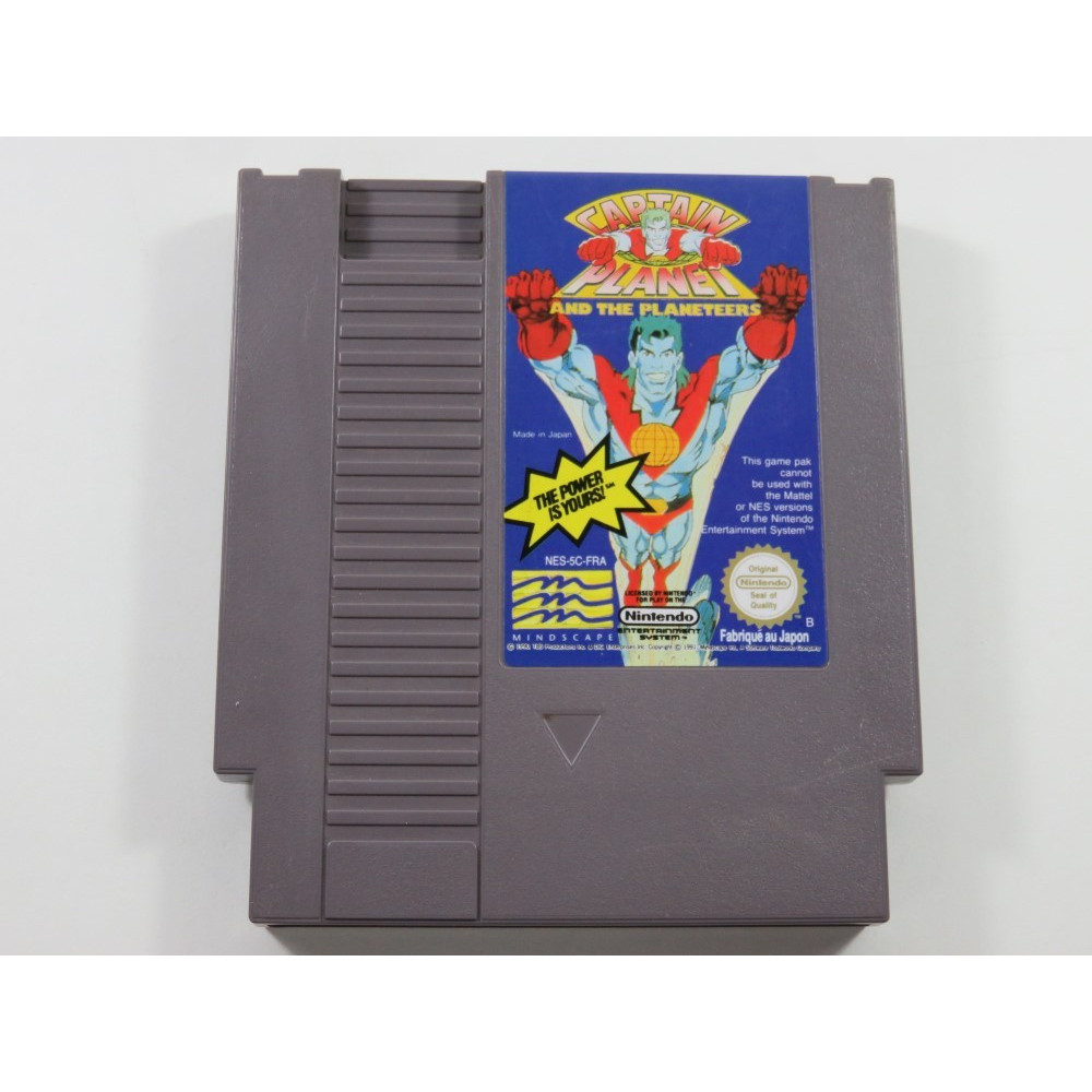CAPTAIN PLANET AND THE PLANETEERS NINTENDO NES PAL-B FRA (CARTRIDGE ONLY - GOOD CONDITION)