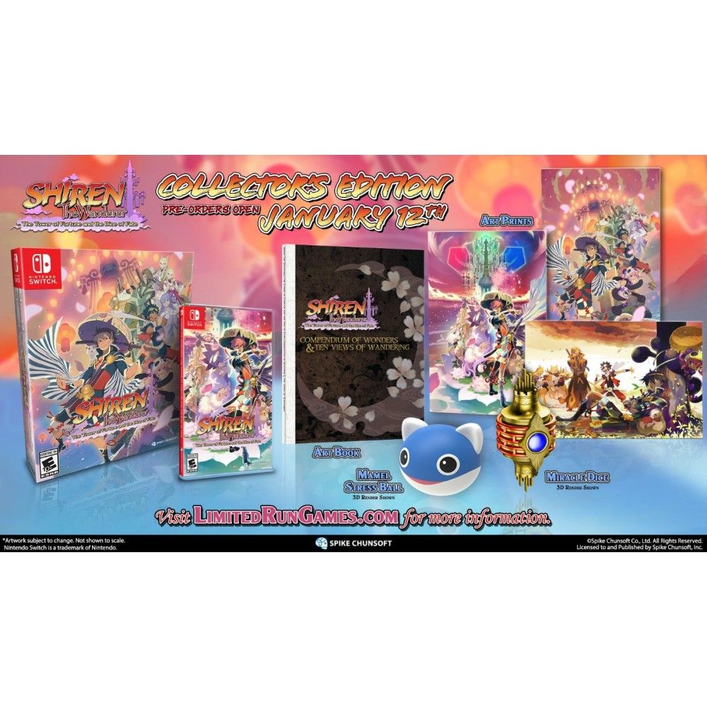 SHIREN THE WANDERER: THE TOWER OF FORTUNE AND THE DICE OF FATE SWITCH USA NEW