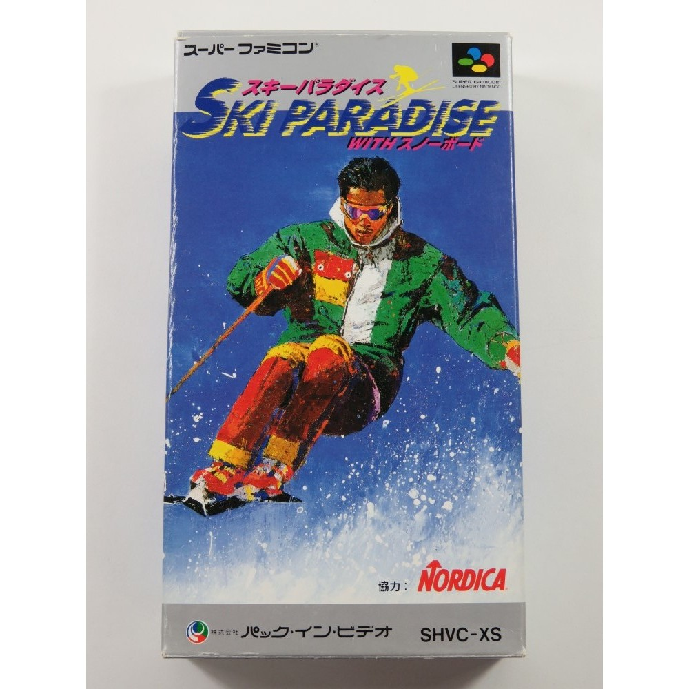 SKI PARADISE WITH SNOWBOARD SUPER FAMICOM (SFC) NTSC-JPN (COMPLETE WITH REG CARD - GOOD CONDITION)