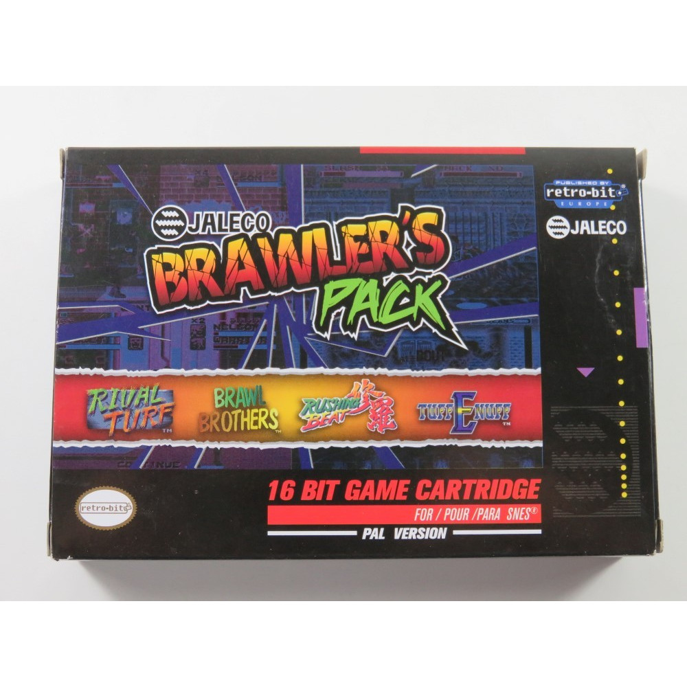 BRAWLER S PACK JALECO SUPER NINTENDO (SNES) PAL-EURO ( COMPLETE WITH PIN S AND STICKERS - VERY GOOD CONDITION)
