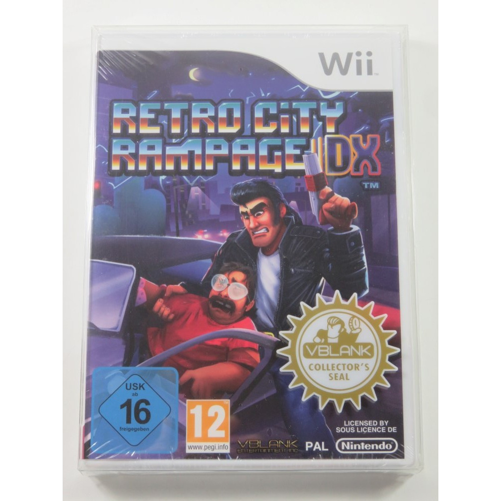 RETRO CITY RAMPAGE DX WII PAL-UK NEW VBLANK COLLECTOR S SEAL