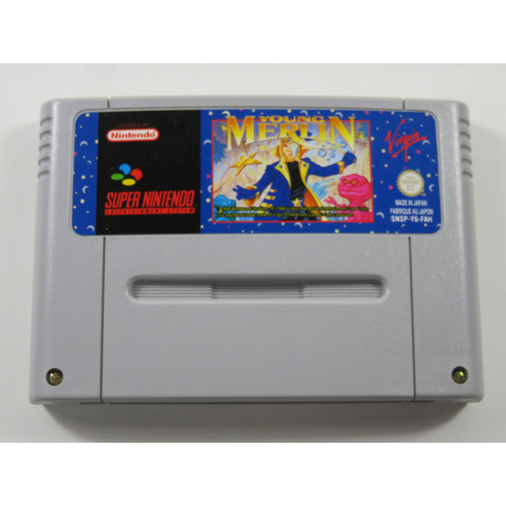 YOUNG MERLIN SUPER NINTENDO (SNES) PAL-FAH (CARTRIDGE ONLY - GOOD CONDITION)