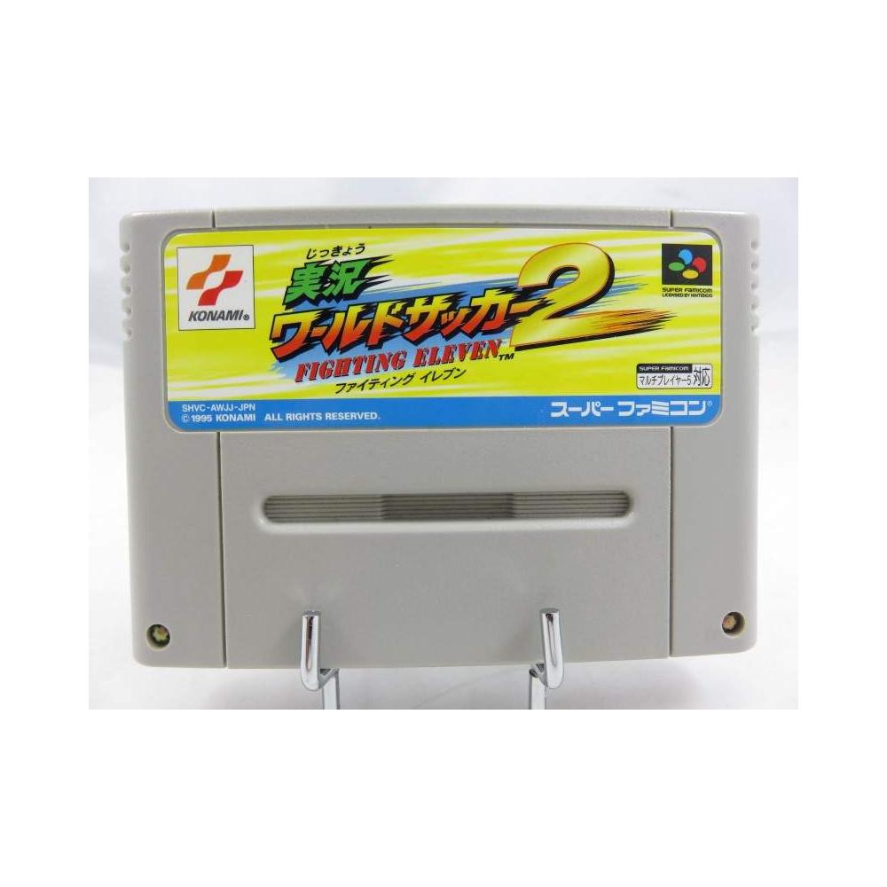 JIKKYOU WORLD SOCCER FIGHTING ELEVEN 2 SUPRE FAMICOM (SFC) NTSC-JPN (CARTRIDGE ONLY - GOOD CONDITION)