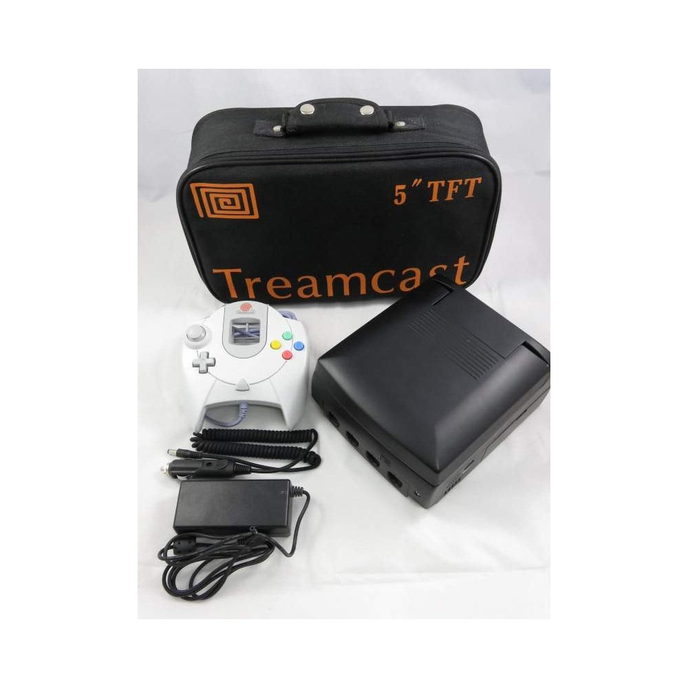 CONSOLE TREAMCAST BLACK 5 TFT (AVEC SAC DE TRANSPORT) NTSC-USA (NEAR MINT)