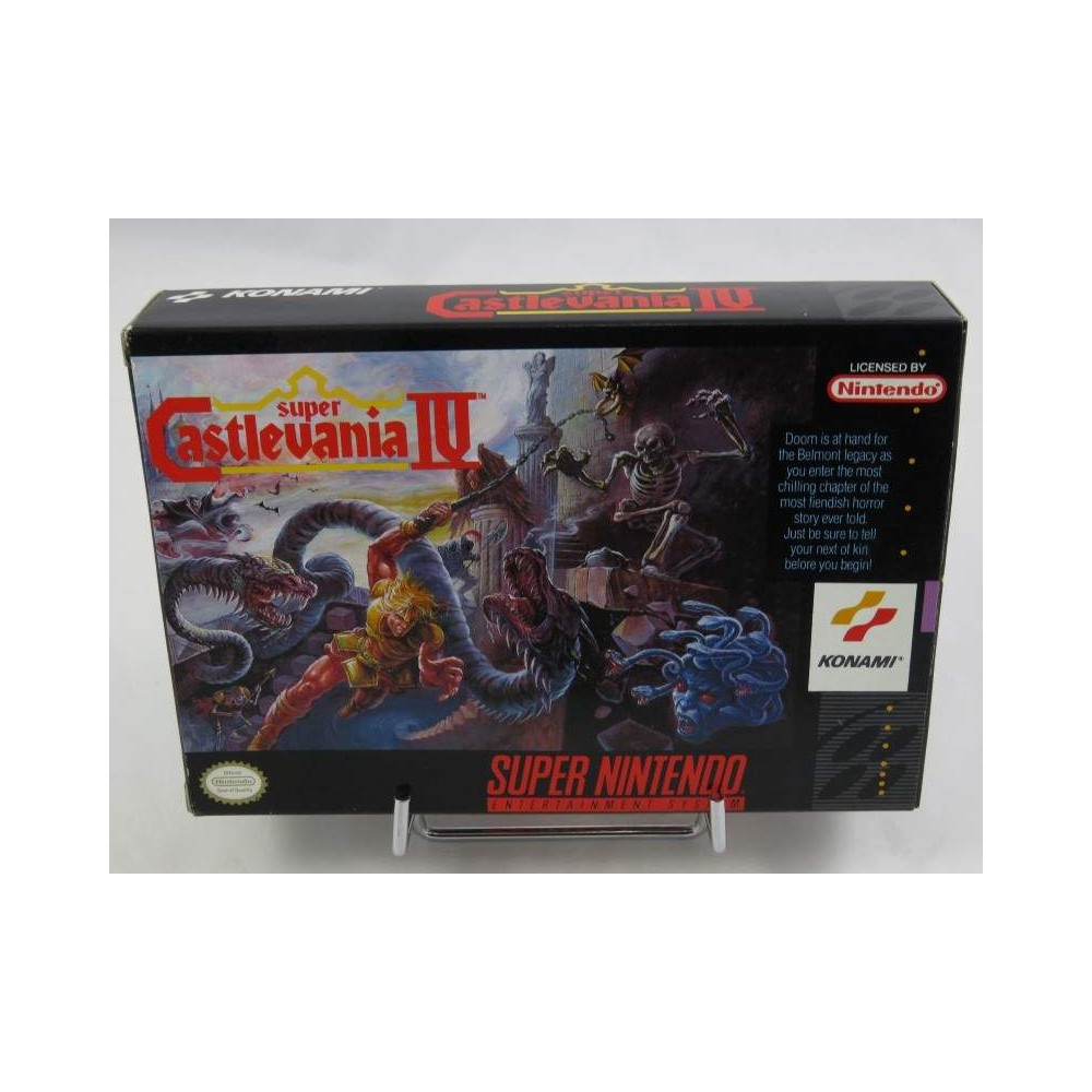 SUPER CASTLEVANIA 4 SNES NTSC-USA OCCASION (MINT) (POSTER + NOTICE FR + REG CARD)