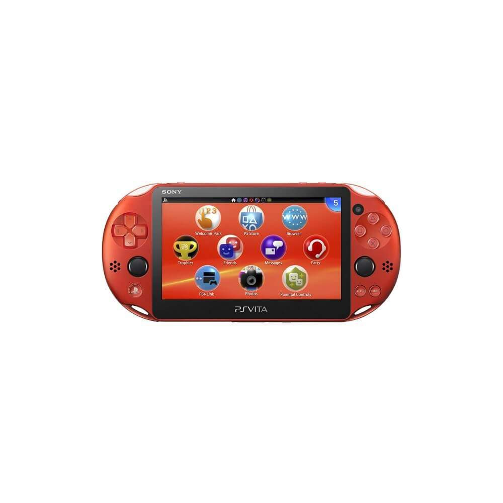 achat console ps vita wifi slim metallic red jpn new console 51935 trader games. Black Bedroom Furniture Sets. Home Design Ideas