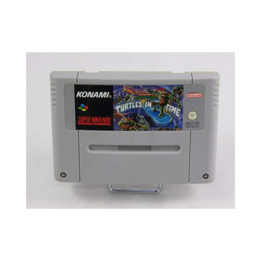 TEENAGE MUTANT HERO TURTLES IV : TURTLES IN TIME SNES PAL-FAH LOOSE