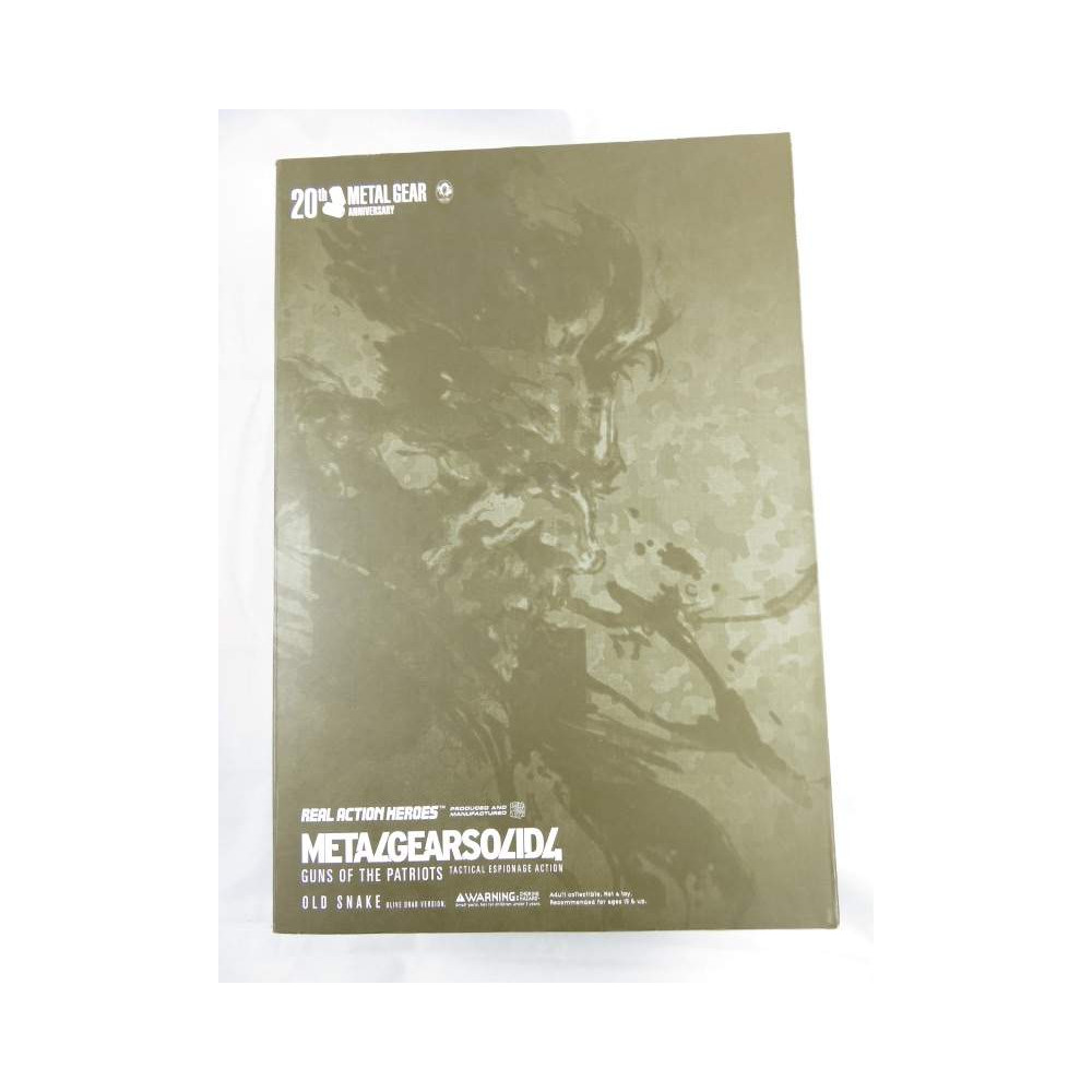 REAL ACTION HEROES METAL GEAR SOLID 4 (20TH METAL GEAR ANNIVERSARY) OLD SNAKE OCCASION