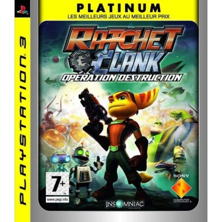 RATCHET & CLANK OPERATION DESTRUCTION (PLATINIUM) PS3 FR OCCASION
