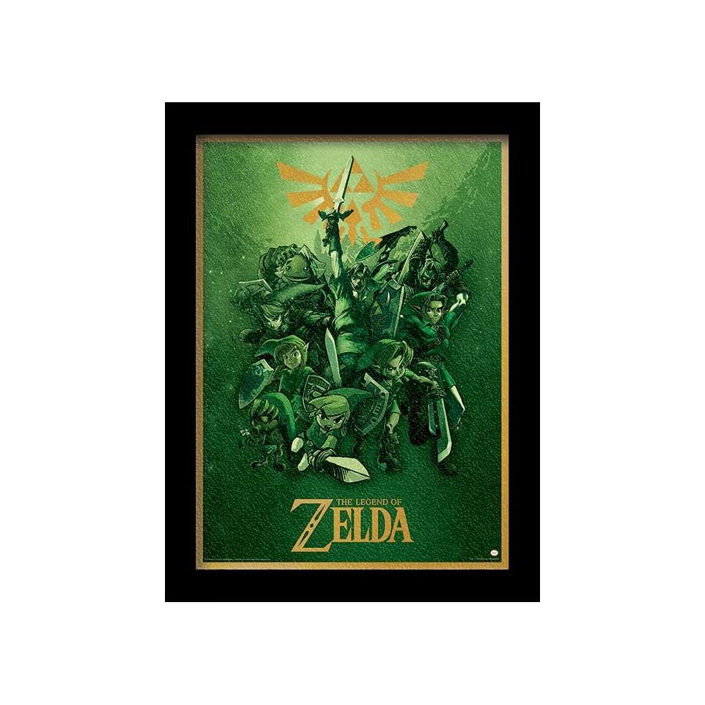 ZELDA GEL COATS PRINT 30X40 LINK NEW