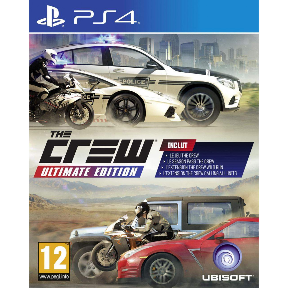 THE CREW ULTIMATE EDITION PS4 EURO FRANCAIS NEW