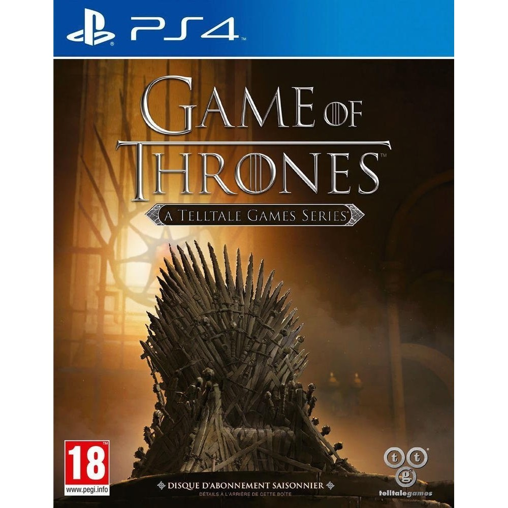 GAME OF THRONES A TELLTALE GAMES SERIES PS4 VF