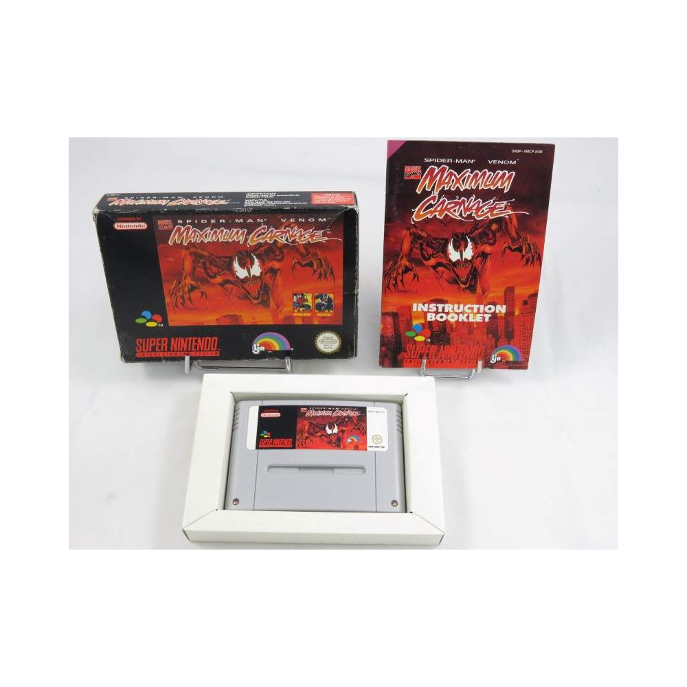 Buy Maximum Carnage Snes Pal Eur Occasion Game 52344 Trader Games