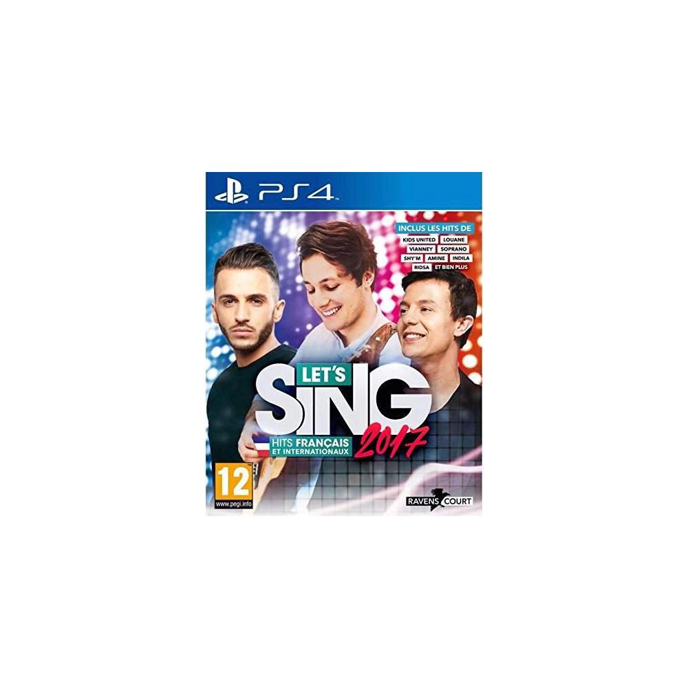 LET S SING 2017 HITRS FRANCAIS PS4 FR NEW
