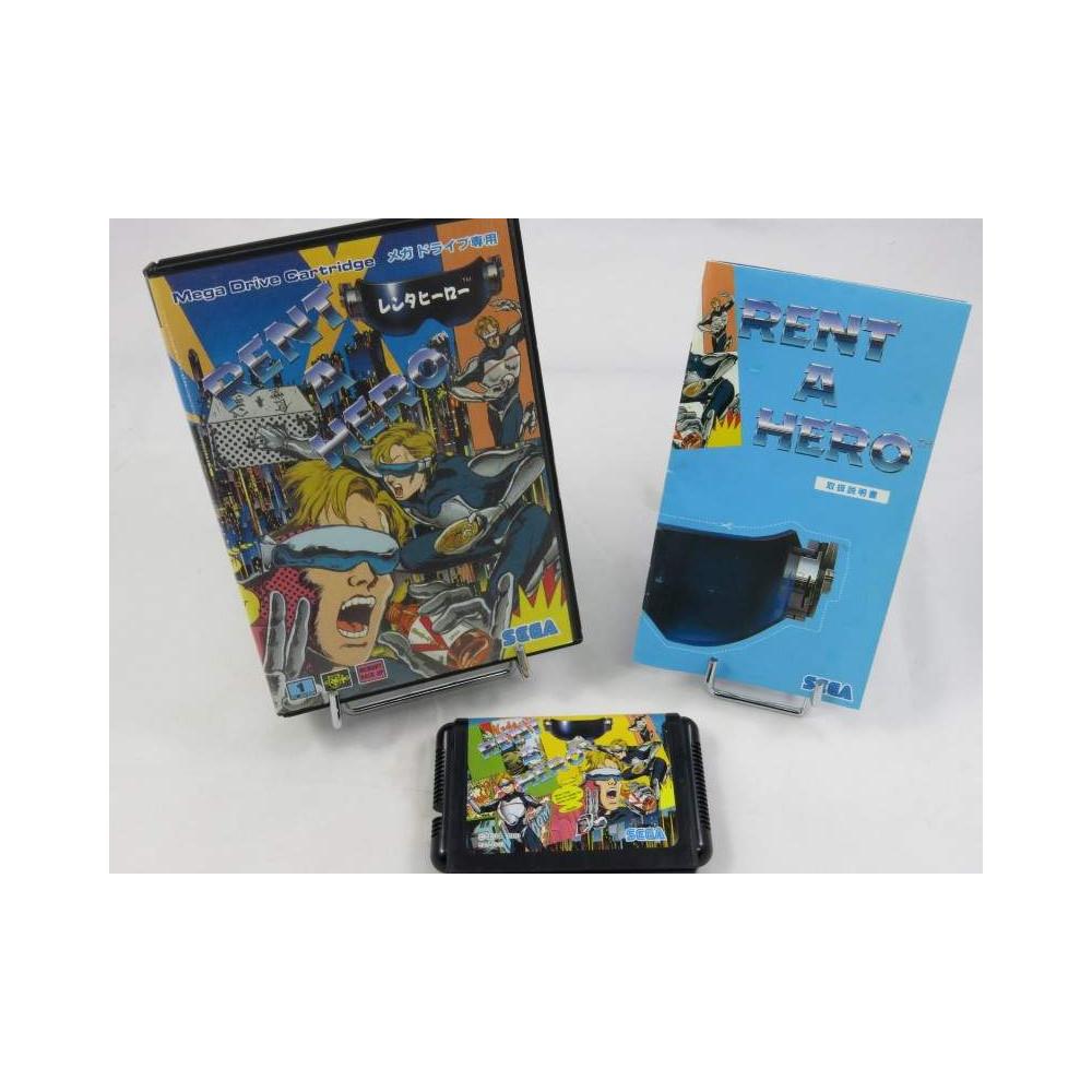 RENT A HERO SEGA MEGADRIVE NTSC-JPN (COMPLETE - GOOD CONDITION) RPG 1991