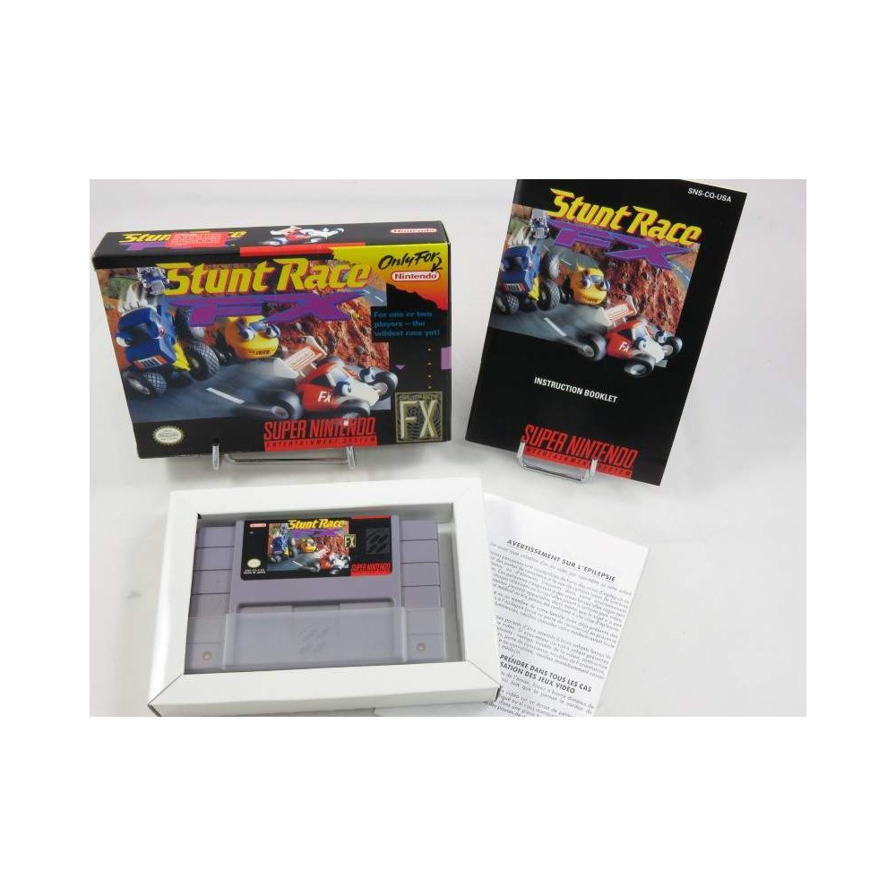 STUNT RACE FX (IMPORT FR) SNES NTSC-USA (MINT)