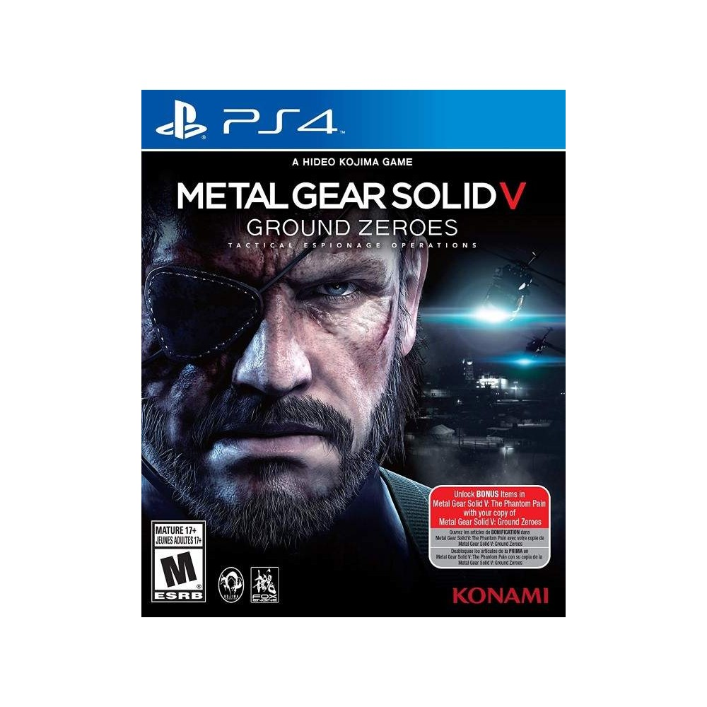 METAL GEAR SOLID V GROUND ZEROES PS4 USA OCCASION