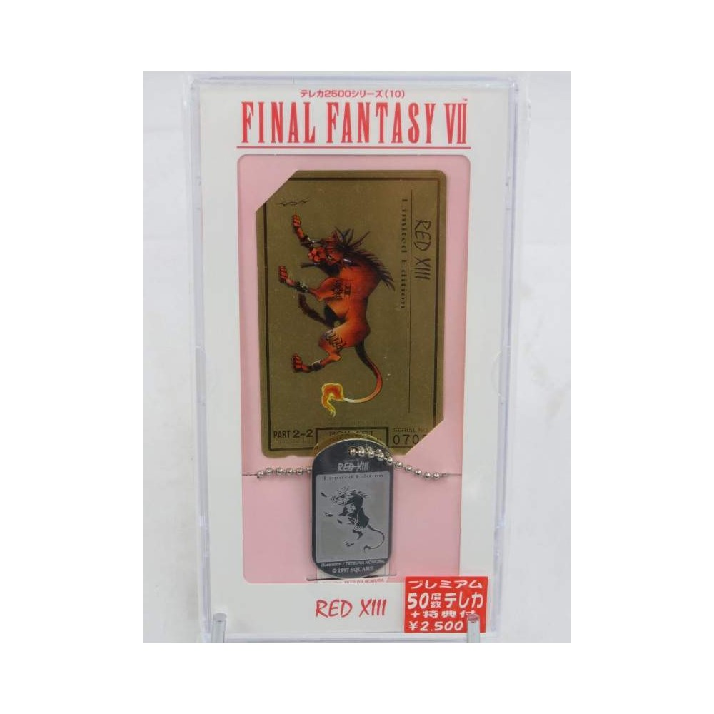 FINAL FANTASY VII GOLD PHONECARD RED XIII (BAND-1010) LIMITED 3000EX OFFICIAL JPN NEW