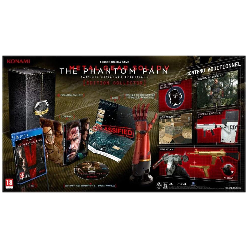 METAL GEAR SOLID 5 PHANTOM PAIN COLLECTOR PS4 FR NEW