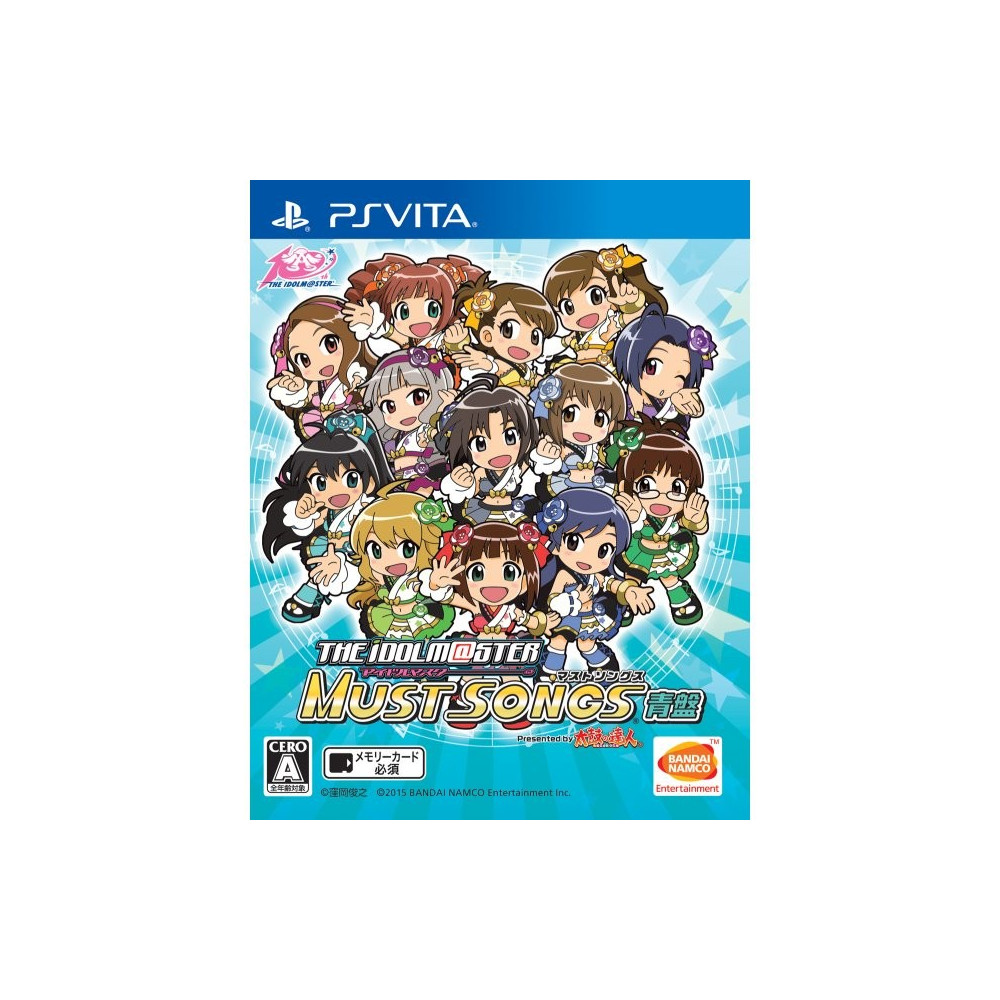 THE IDOLM@STER MUST SONGS BLUE BOARD PSVITA JAPONAIS OCCASION