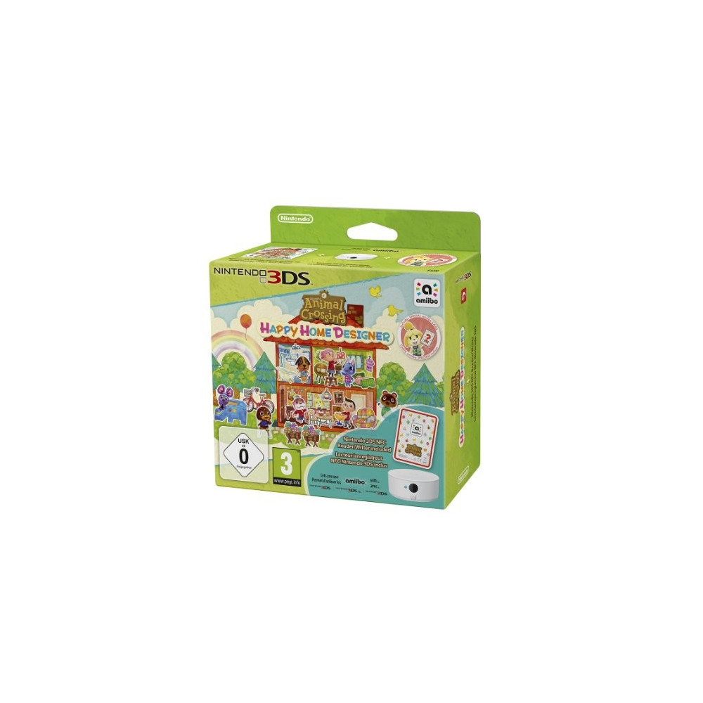 ANIMAL CROSSING HAPPY HOME DESIGNER + LECTEUR NFC 3DS FR