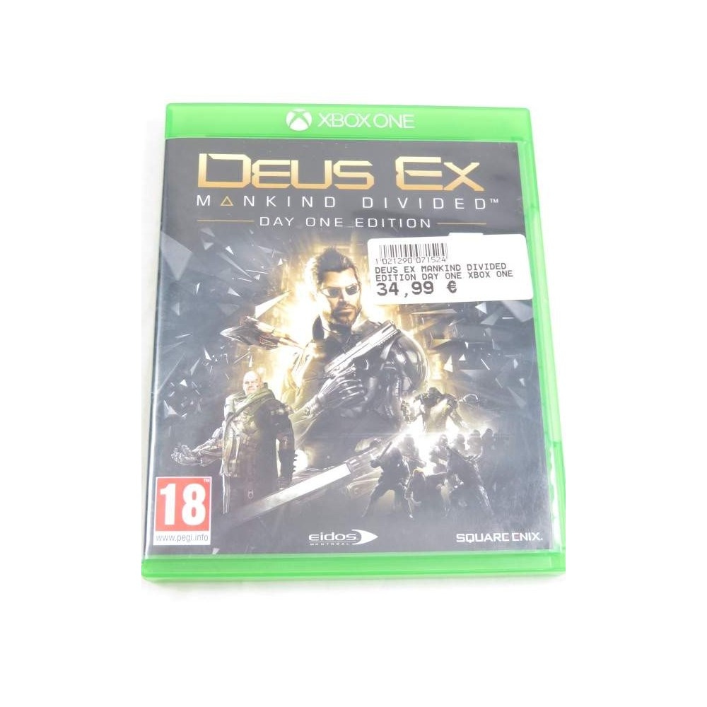 DEUS EX MANKIND DIVIDED EDITION DAY ONE XBOX ONE FR OCCASION