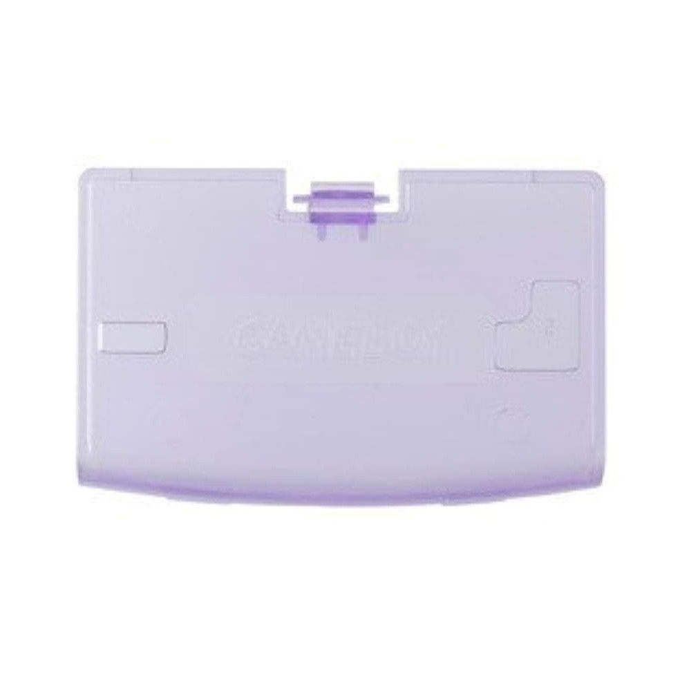 BATTERY COVER GAME BOY ADVANCE CLEAR PURPLE NEW