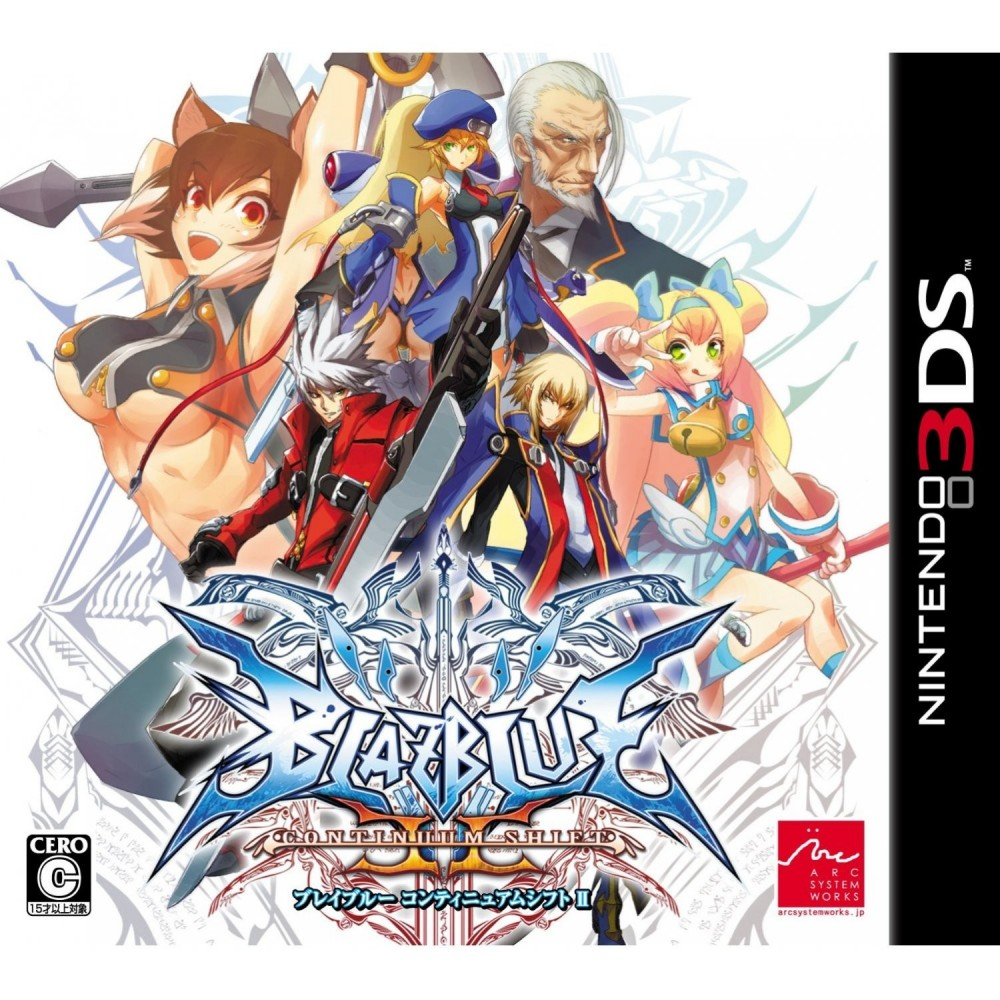 BLAZBLUE CONTINUUM SHIFT 2 3DS JAP OCC