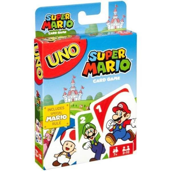 UNO SUPER MARIO GAME USA NEW