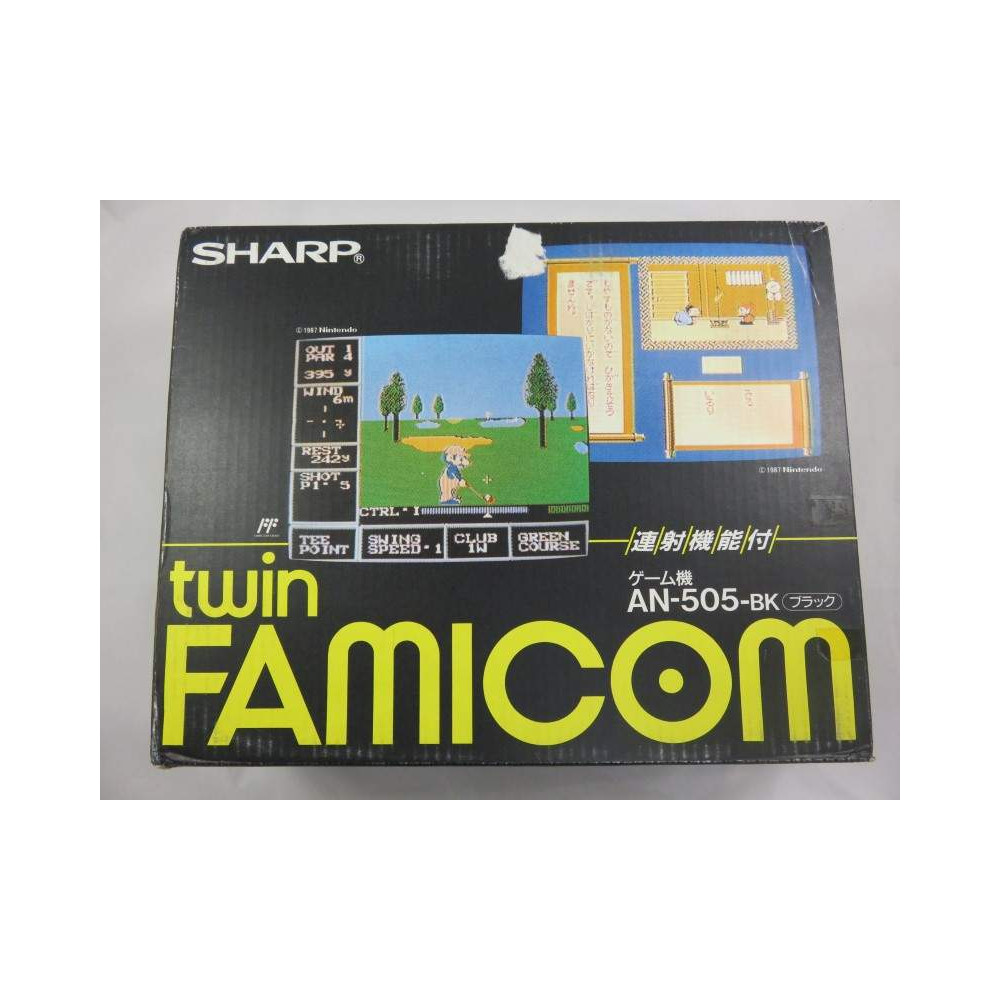 CONSOLE TWIN FAMICOM SHARP AN-505-BK COMPLETE