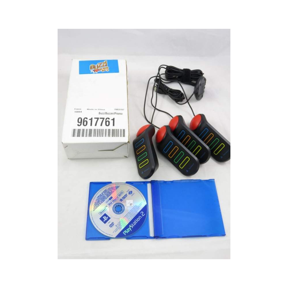 BUZZ LE QUIZZ MUSICAL (PROMO ONLY) + BUZZERS PS2 PAL-EURO OCCASION