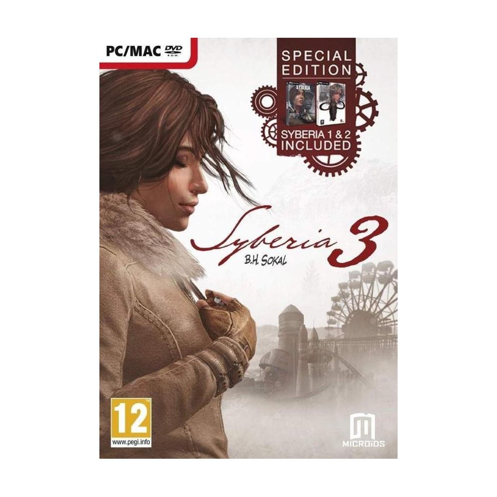 SYBERIA 3 COMPLETE EDITION + 1 + 2 PC EURO FR NEW