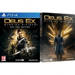 DEUS EX MANKING DIVIDED STEELBOOK DAY ONE PS4 FR NEW