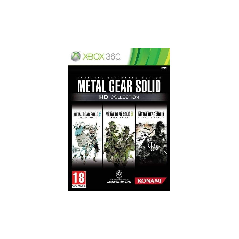 METAL GEAR SOLID HD COLLECTION XBOX 360 PAL-FR OCCASION