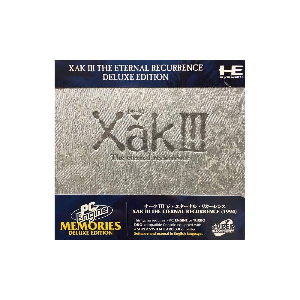 XAK III THE ETERNAL RECURRENCE DELUXE EDITION BOOTLEG PC ENGINE MEMORIES SUPER CDROM 2 NEW