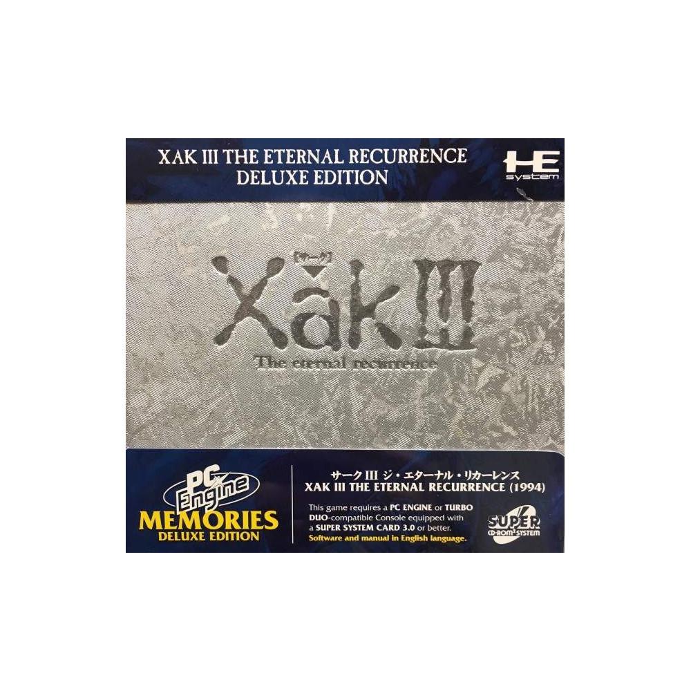 XAK III THE ETERNAL RECURRENCE DELUXE EDITION BOOTLEG PC ENGINE MEMORIES SUPER CDROM 2 NEW