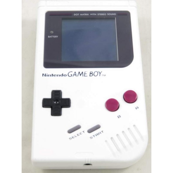 CONSOLE GAMEBOY (COQUE NEUVE BLANCHE BLEUE CUSTOM) MODIFIEE BACKLIGHT BI-VERT OCCASION