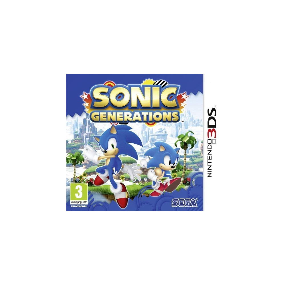 SONIC GENERATIONS 3DS ANGLAIS OCCASION