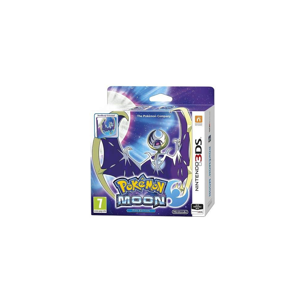 POKEMON MOON FAN EDITION 3DS PAL-UK NEW
