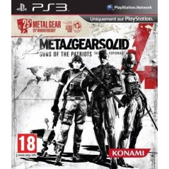 METAL GEAR SOLID 4 GUNS OF THE PARTIOTS 25TH ANNIVERSARY PS3 FR OCCASION